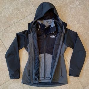 The North Face Triclimate Rain Jacket w Liner sz S
